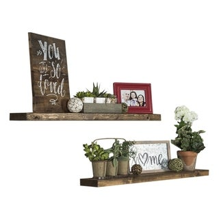 Del Hutson Designs True Floating Shelves, Set of 2, 36""