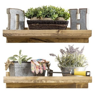 """Del Hutson Designs Rustic Luxe Shelf Set, 24"""""""