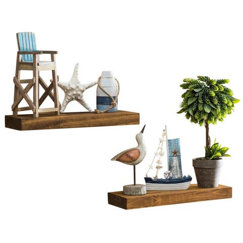 Del Hutson Designs True Floating Shelves, Set of 2, 16""