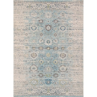 Chelsea Design Machine Made/Power Loom Seafoam/Ivory Rug (9' X 12') - 9' x 12'