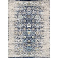 "Chelsea Design Machine Made/Power Loom Navy/Ivory Rug - 6'7"" x 9'6"""