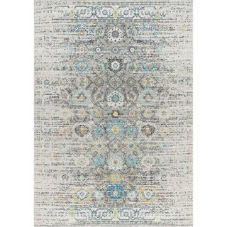Chelsea Design Machine Made/Power Loom Silver/Ivory Rug (9' X 12') - 9' x 12'