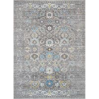 "Chelsea Design Machine Made Silver Power Loom Area Rug (9' X 12') - 6'7"" x 9'6"""