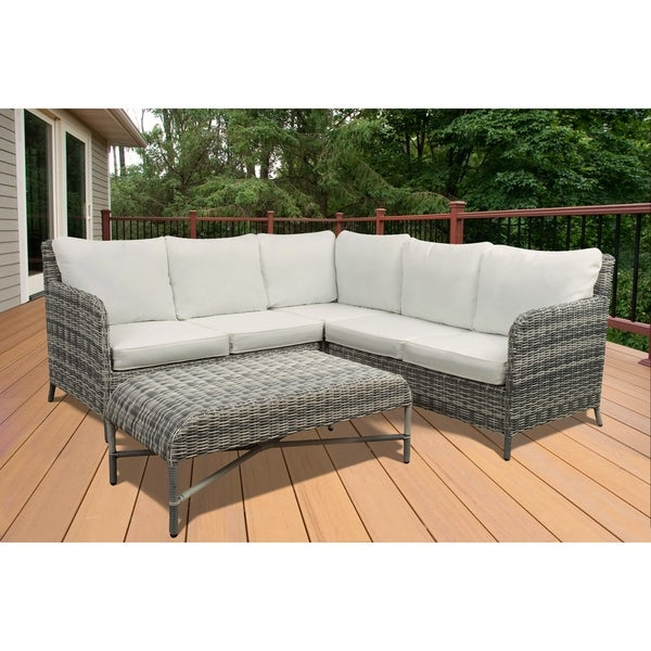 Vivo 4 Piece Modern Patio Sectional Set By Westin Outdoor