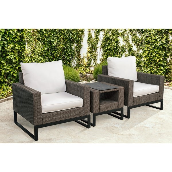 Venice 3 Piece Modern Patio Conversation Set By Westin Outdoor
