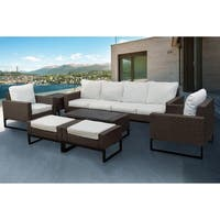Venice 8-Piece Modern Patio Conversation Sofa Set by Westin Outdoor