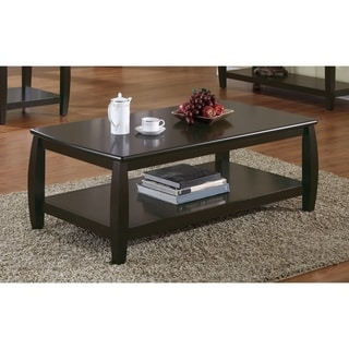 "Wood Top Coffee Table, Cappuccino - 47.50"" x 26"" x 18"""