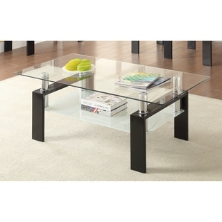 "Occasional Contemporary Black Coffee Table - 48"" x 24"" x 18"""