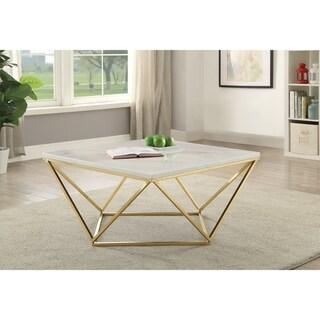"Modern White Coffee Table - 36"" x 36"" x 18"""