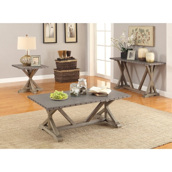 Driftwood End Table: Shop Industrial Driftwood End Table