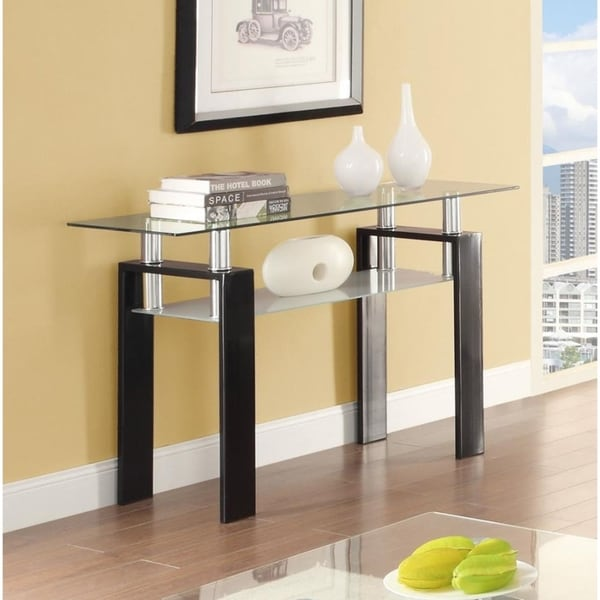 "Occasional Contemporary Black Sofa Table - 48"" x 16"" x 30"""