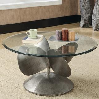 "Industrial Grey Coffee Table - 18.50"" x 38"""