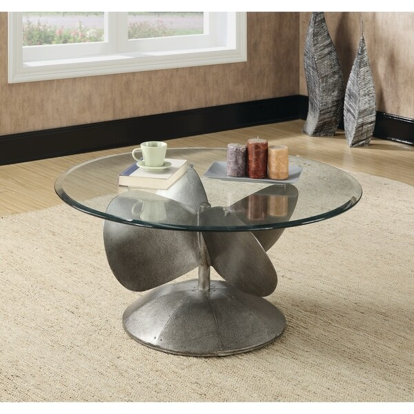 Industrial Grey Driftwood Open Coffee Table: Shop Industrial Grey Coffee Table
