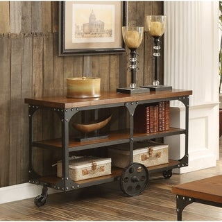 Rustic Cherry Sofa Table - N/A