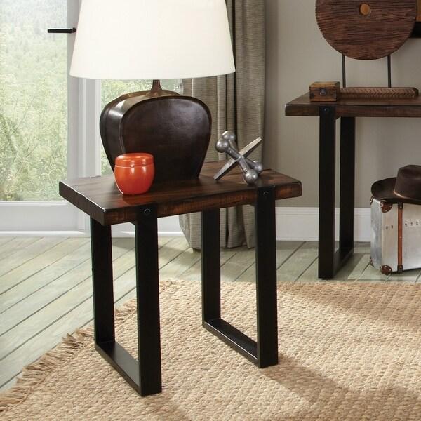 Industrial Vintage Brown End Table