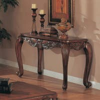 Victoria Traditional Warm Brown Sofa Table