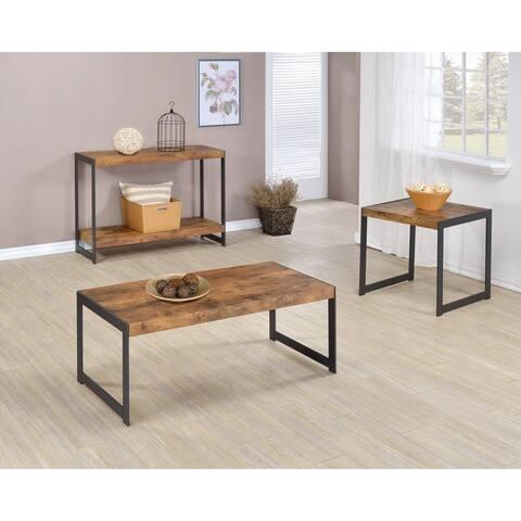 "Rustic Antique Nutmeg End Table - 21.25"" x 22"" x 22.50"""