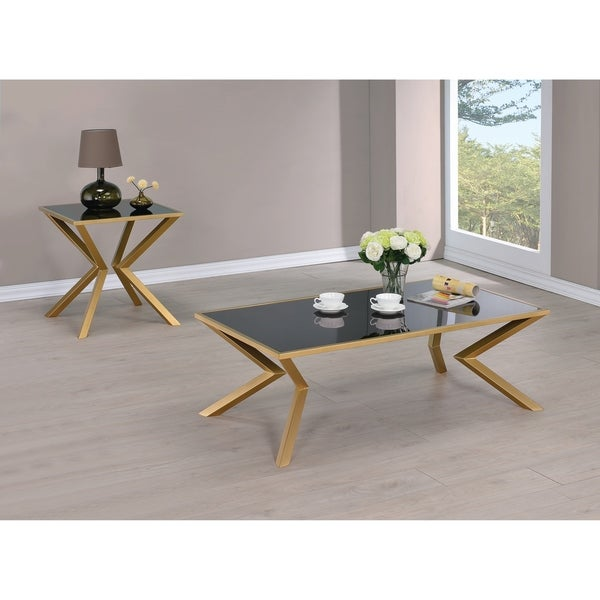 Shop Brushed Brass Coffee Table Free Shipping Today