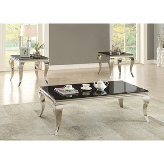 "Contemporary Black Coffee Table - 51.25"" x 27.75"" x 17.50"""