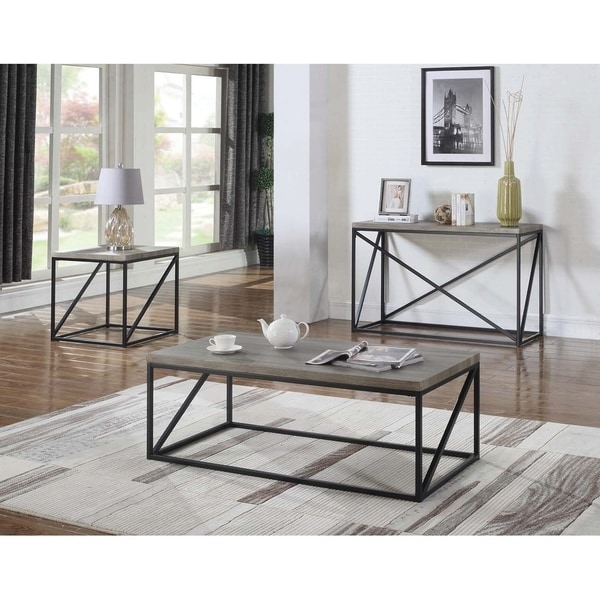 Industrial Renaissance Outdoor Coffee Table: Shop Industrial Sonoma Grey Coffee Table
