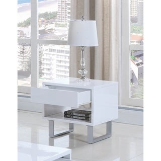 Link to Contemporary Glossy White End Table Similar Items in Living Room Furniture