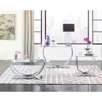 Contemporary Chrome End Table