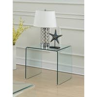 Contemporary Clear Acrylic End Table