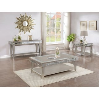 "Bling Mirrored Coffee Table - 50.25"" x 29.25"" x 18.50"""