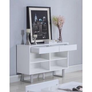 "Contemporary Glossy White Sofa Table - 42"" x 15.50"" x 30"""