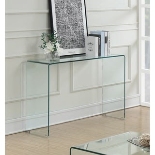 Contemporary Clear Glass Sofa Table