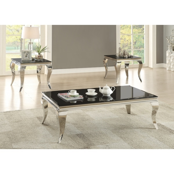 "Contemporary Black Side Table - 23.75"" x 23.75"" x 22.50"""