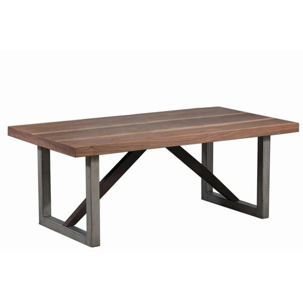 Industrial Renaissance Outdoor Coffee Table: Shop Industrial Walnut Coffee Table