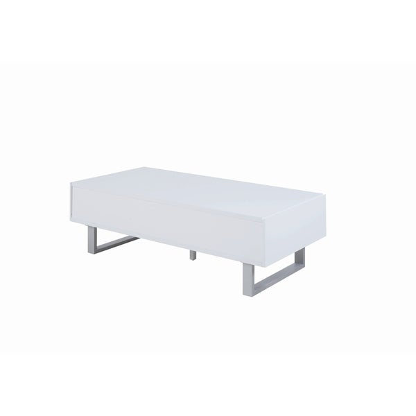 Overstock White Coffee Table.Shop Contemporary Glossy White Coffee Table On Sale Free