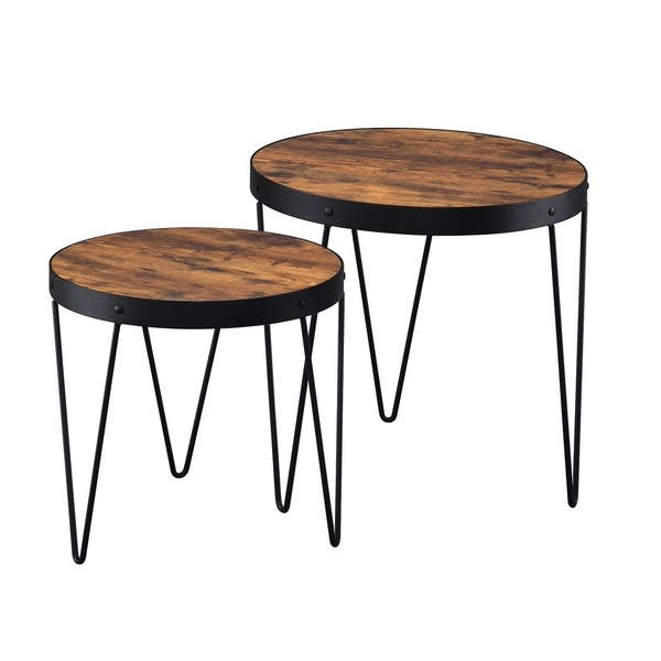Honey And Black Nesting Tables