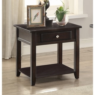 Transitional Walnut 1-drawer End Table