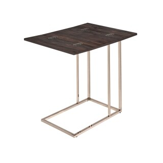 Contemporary Chocolate Chrome and Chestnut Snack Table