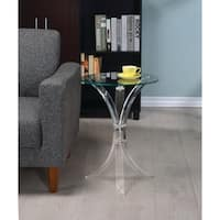 Contemporary Clear Accent Table