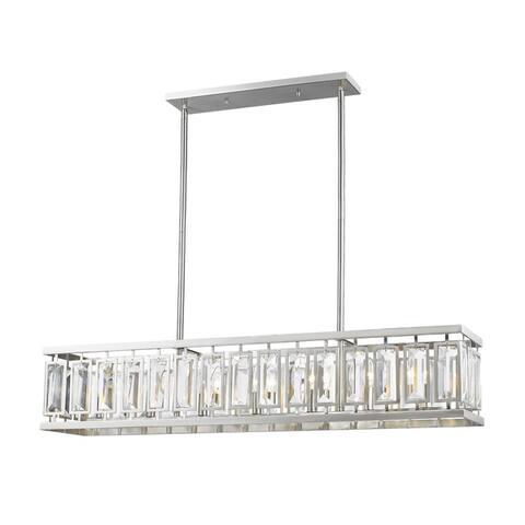 "Avery Home Lighting Mersesse Brushed Nickel 7-light Island/Billiard - Silver - 47"" x 12"" x 15"""