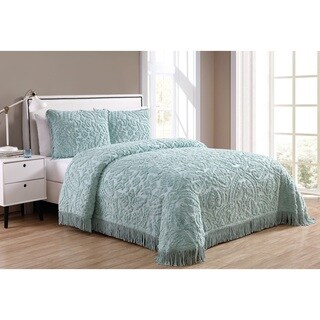 VCNY Home Allison Cotton 3 Piece Bedspread Set - Green - Queen (As Is Item)