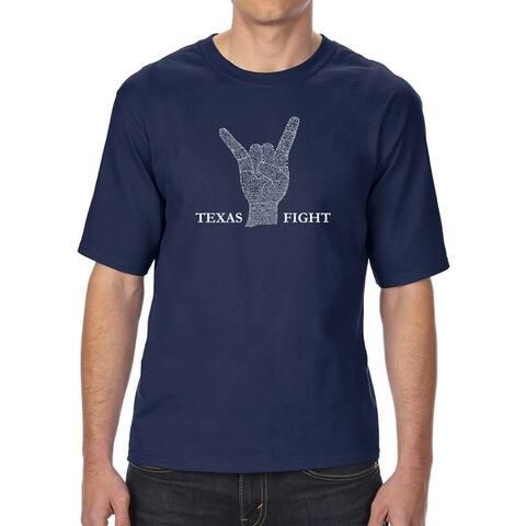 LA Pop Art Men's Tall Word Art T-shirt - Longhorns Fight Song