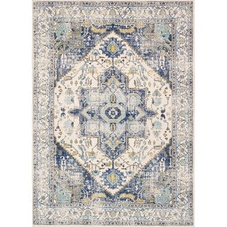 "Chelsea Design Ivory Machine Made/Power Loom Area Rug (5' 0"" X 7' 6"") - 5' x 8'"