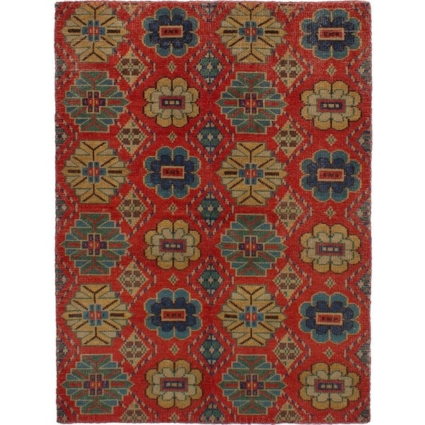 ECARPETGALLERY Hand-knotted Mystique Red Wool Rug