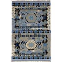 eCarpetGallery  Flat-weave Esme 300068 Light Blue  Wool Kilim - 8' x 10'