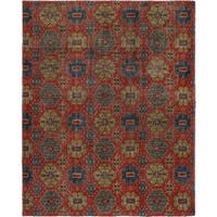 eCarpetGallery  Hand-knotted Mystique Red Wool Rug - 8'2 x 10'