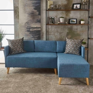 Augustus Mid-century Modern Fabric Chaise Sectional by Christopher Knight Home