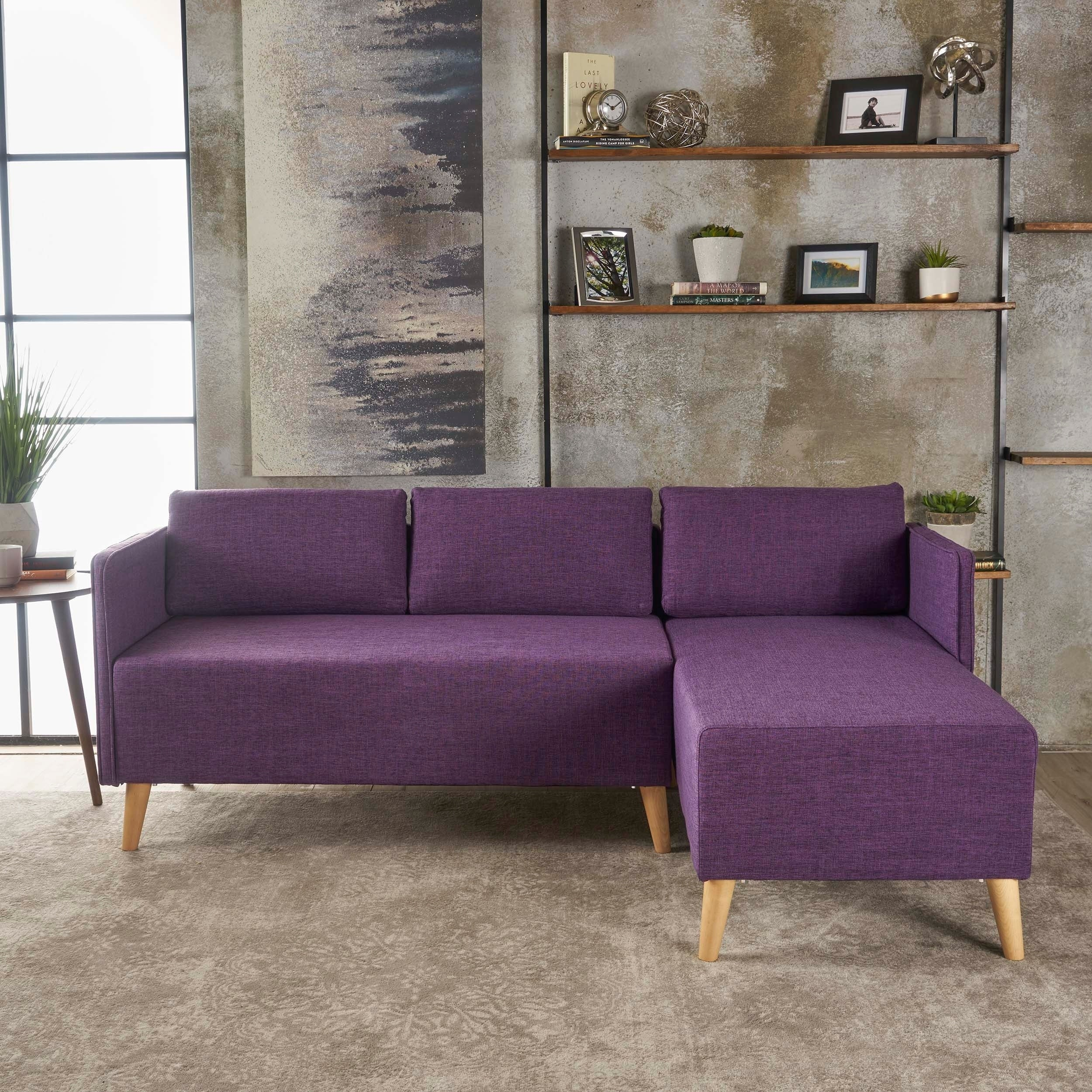Augustus Modern 2 Piece Chaise Sectional Sofa Set By Christopher Knight  Home (Option: