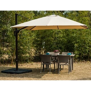 Abbey 10 ft Offset Hanging Canopy Umbrella by Westin Outdoor