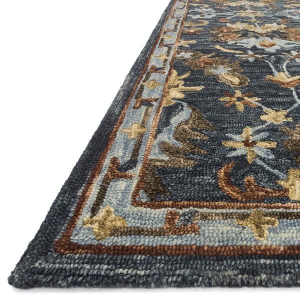 Brown Traditional Fl Wool Area Rug