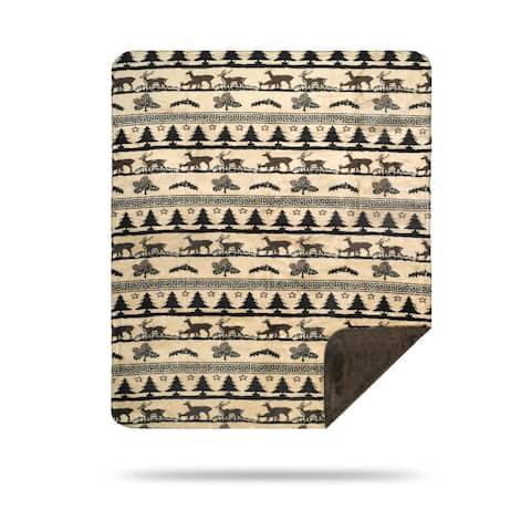Denali Deer Haven/Taupe Blanket