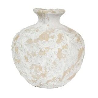 Sagebrook Home 11447 Textured Vase, Peach Cement, 10.5 x 10.5 x 10.75 Inches